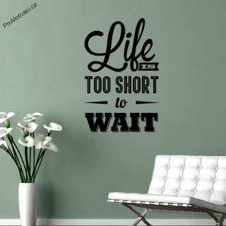 Samolepka na zeď - Life is too short to wait